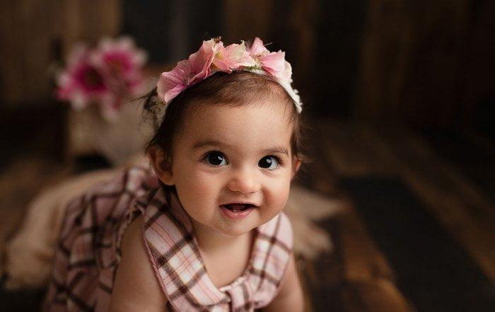 foto bambini a Verona - bambina in rosa