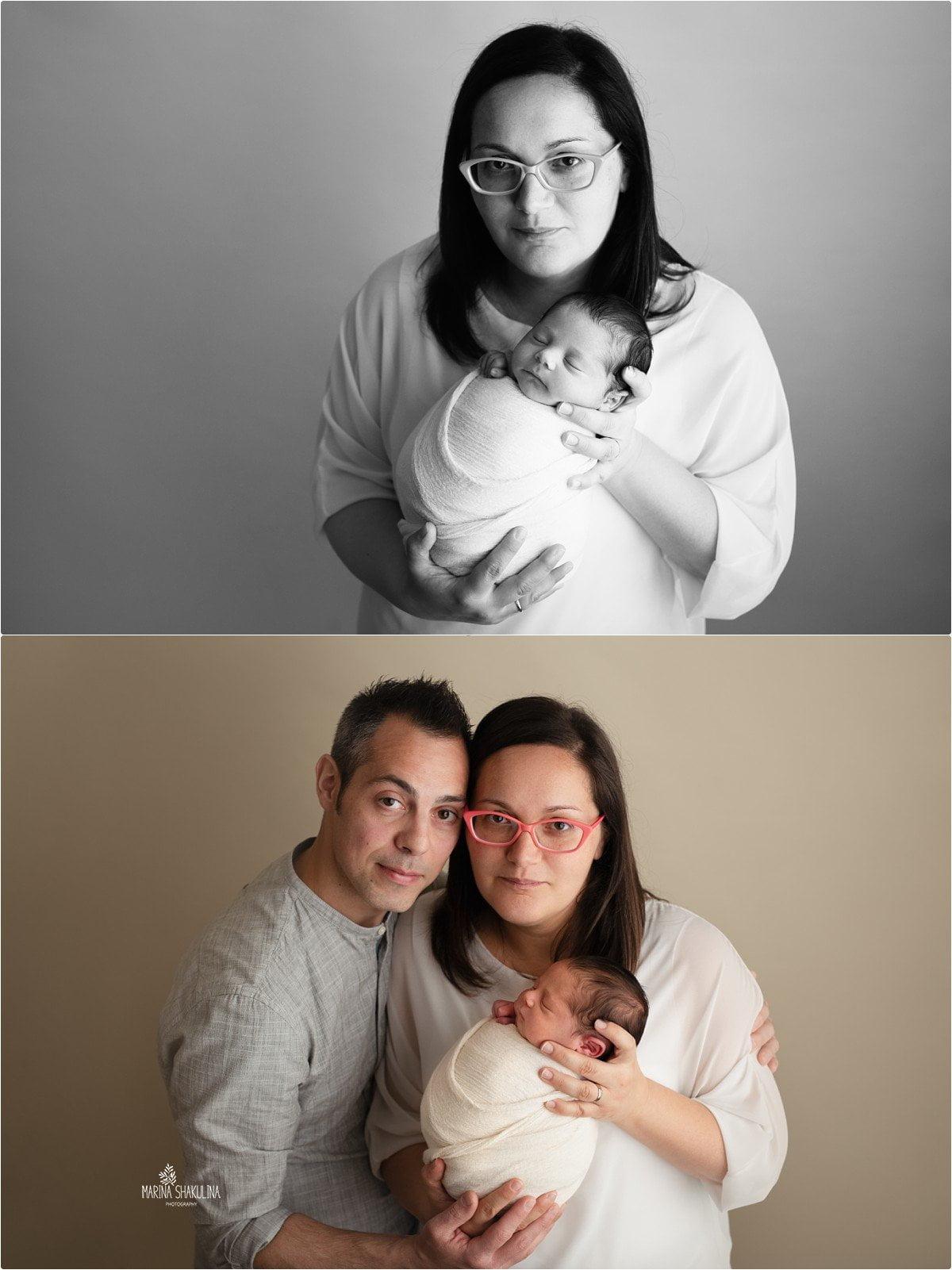 foto neonato a Verona mamma e papà
