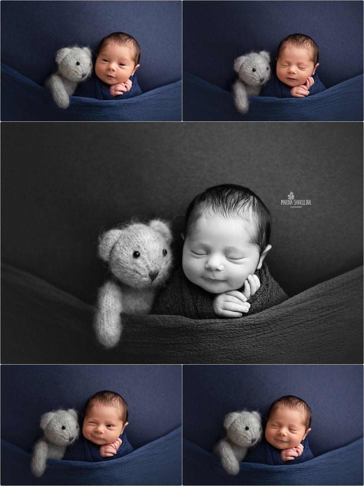 foto neonato a Verona - dolce orsettino