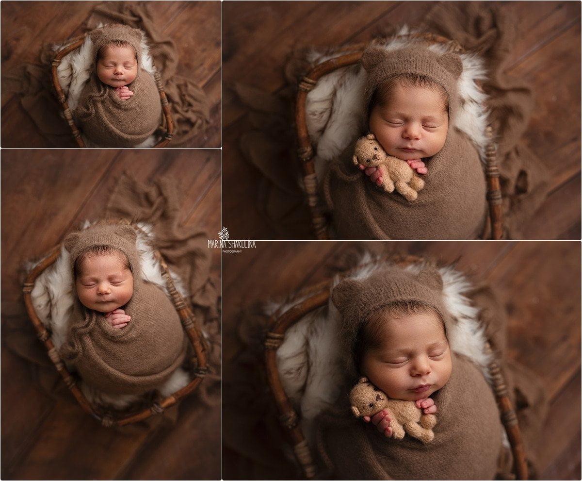 foto neonato a Verona - sono un orsetto