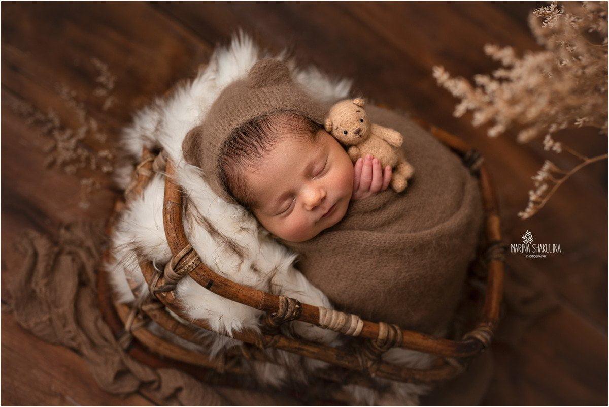foto neonato a Verona - little sleeping bear