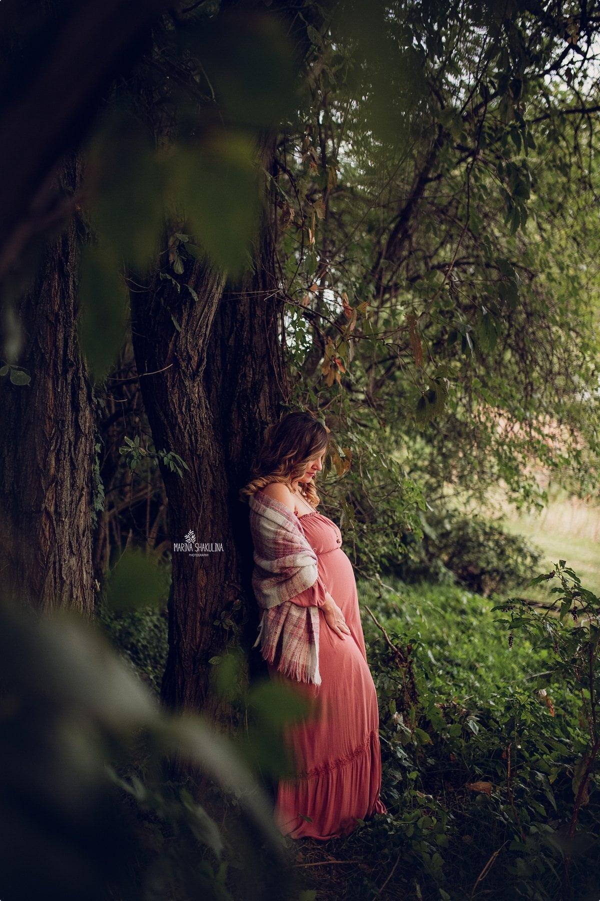 Fotografa Maternity - nel bosco