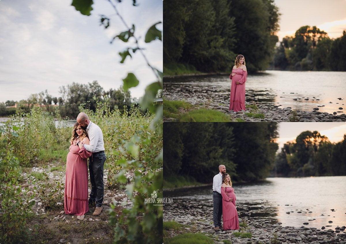 Fotografa Maternity - in riva al fiume