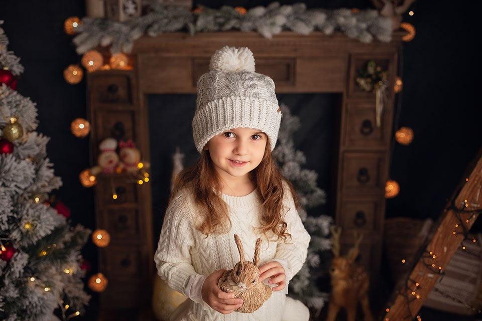 foto di Natale - maglioncino bianco