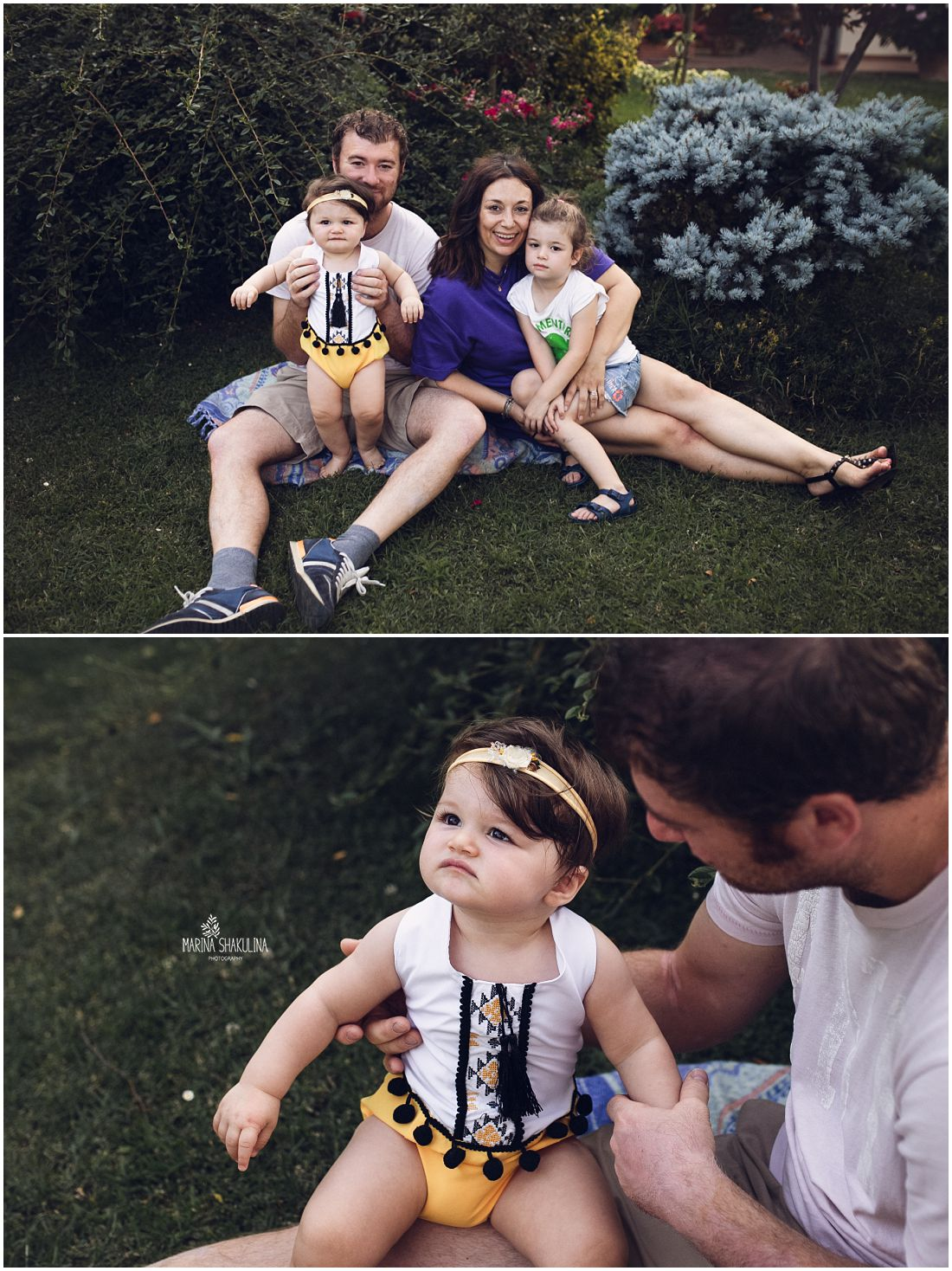 scatti di famiglia all'aperto